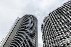 Immeubles de bureaux modernes dans AZCA Madrid photo stock