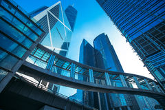 Immeubles de bureaux modernes en Hong Kong Photos libres de droits