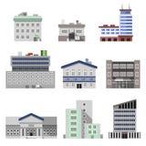 Immeubles de bureaux plats Photo stock