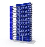 Immeubles de bureaux sur le blanc Illustration de Vecteur