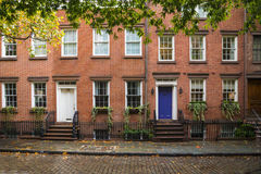 Immeubles de Greenwich Village, New York City Photographie stock