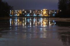 Immeubles de Mseno dans Jablonec NAD Nisou Photo stock