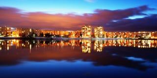 Immeubles de Mseno, Jablonec NAD Nisou Image libre de droits