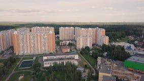 Immeubles de vue aérienne complexes et voisinage résidentiel de maisons clip Vue supérieure du luxery moderne photographie stock libre de droits