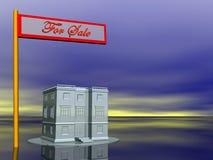 Immeubles, en vente illustration libre de droits