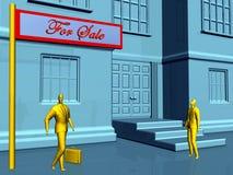 Immeubles, en vente illustration de vecteur