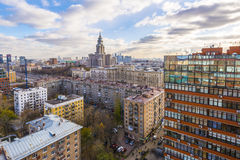 Immeubles modernes dans le nouveau secteur de Moscou Photo libre de droits