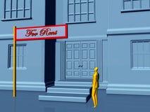 Immeubles, pour le loyer. illustration stock