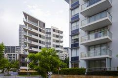 Immeubles, Rhodes, Sydney, Australie image libre de droits
