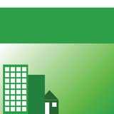 Immeubles verts Images libres de droits