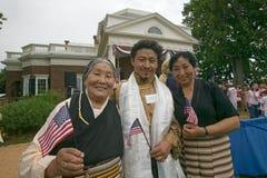 Immigré et famille tibétains Photos libres de droits