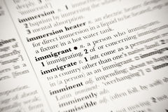 Immigrant Royalty Free Stock Photography