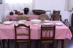Immigrant dining room stock photos