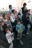 Immigrant Families on the March Royalty Free Stock Image