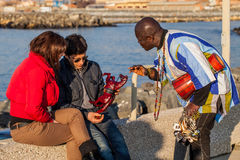 Immigrant Peddler Royalty Free Stock Images
