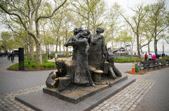 Immigrants memorial in battery park Royalty Free Stock Photo