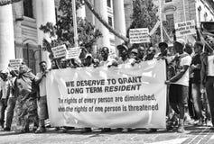 Immigrants protest in Valletta, Malta Stock Image