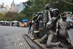 The Immigrants Sculpture At Battery Park Stock Photo