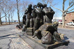 Immigrants sculpture Royalty Free Stock Image