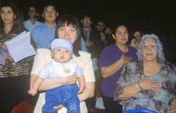 Immigrants Taking Pledge of Allegiance, Los Angeles, California Royalty Free Stock Photos