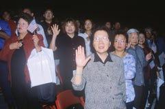 Immigrants Taking Pledge of Allegiance, Los Angeles, California Stock Images