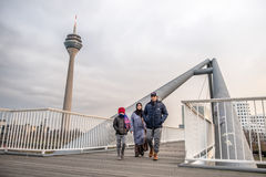 Immigrated family enjoy their new life. In Duesseldorf, Germany Stock Photo