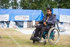 Immigrati da Gaza - la Svezia 2015 Immagini Stock Libere da Diritti