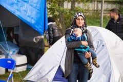 Immigrati da Gaza - la Svezia 2015 Fotografie Stock