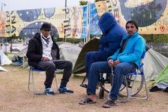 Immigrati da Gaza - la Svezia 2015 Fotografia Stock Libera da Diritti