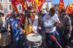 Immigrati di proteste e di dimostrazione Fotografia Stock