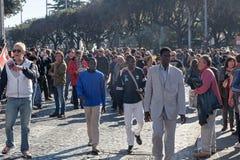 Immigrati di proteste e di dimostrazione Fotografie Stock