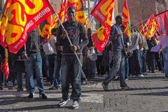 Immigrati di proteste e di dimostrazione Immagini Stock