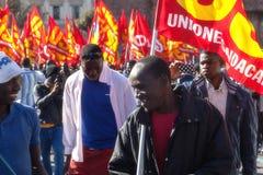 Immigrati di proteste e di dimostrazione Immagine Stock