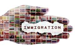 Immigratiecrisis stock foto's