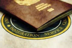 Immigration. Close up of Immigration concept Royalty Free Stock Image