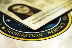 Immigration. Close up of Immigration concept Stock Image