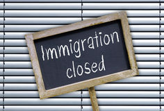 Immigration closed Stock Photo