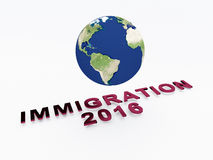 Immigration 2016 concept Royalty Free Stock Photography