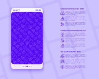 Immigration concept with thin line icons: immigrants, illegals, baggage examination, passport, international flights, customs,. Inspection, refugee camp, social royalty free illustration