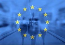 Immigration crisis. European Union immigration crisis concept stock illustration