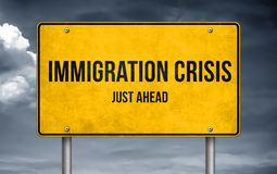 Immigration crisis royalty free stock photo