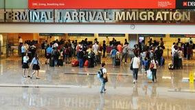 Immigration d'aéroport Photos libres de droits
