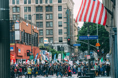 Immigration Day March, downtown Los Angeles Royalty Free Stock Photos