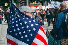 Immigration Day March, downtown Los Angeles Stock Images