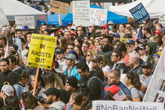 Immigration Day March, downtown Los Angeles Stock Photos