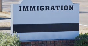 Immigration Debate Sign Royalty Free Stock Images