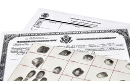 Immigration Documents Stock Photography