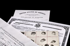 Immigration Documents Stock Images