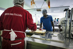 Immigration emergency in italy Stock Photography