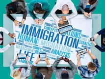 Immigration International Government Law Customs Concept Stock Images